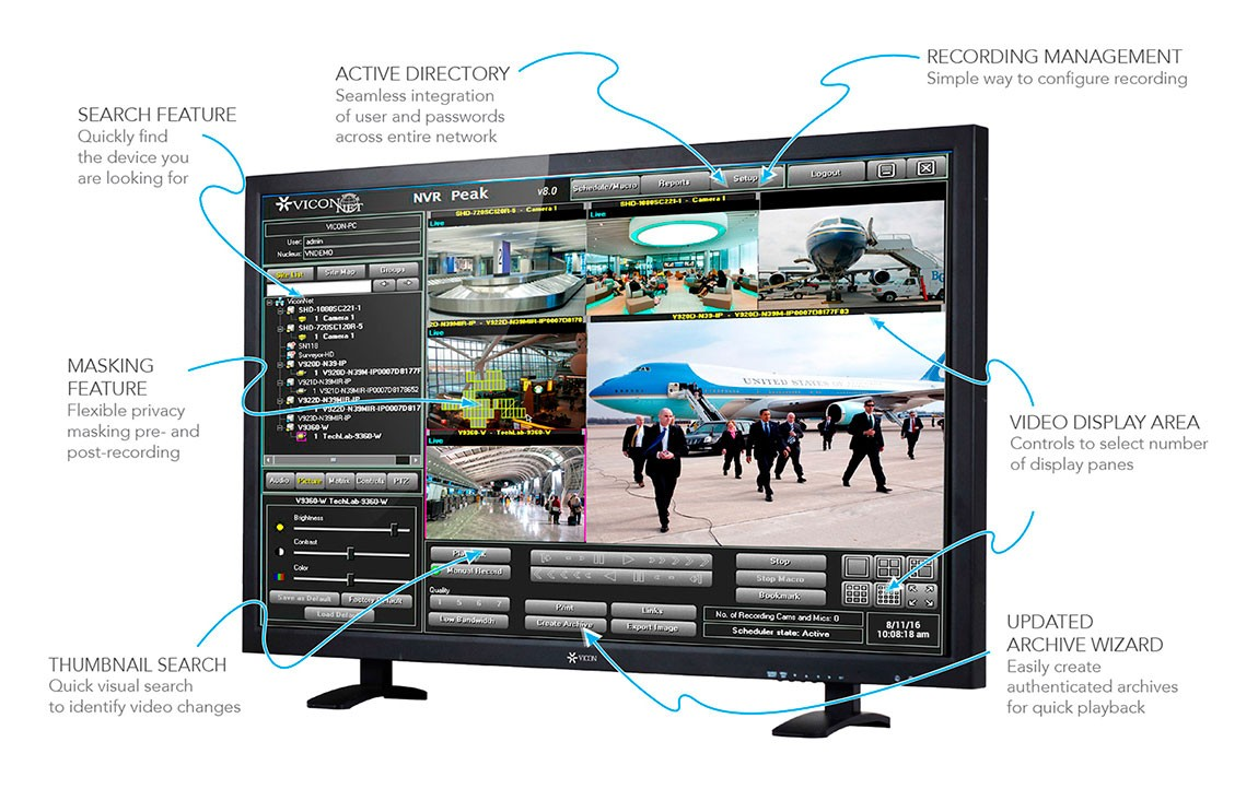 ViconNet video management software solution.