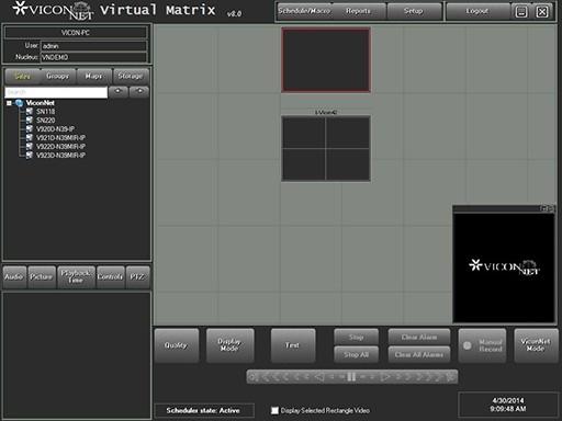 Virtual-Matrix-Display-Controller-Software-Main-screen