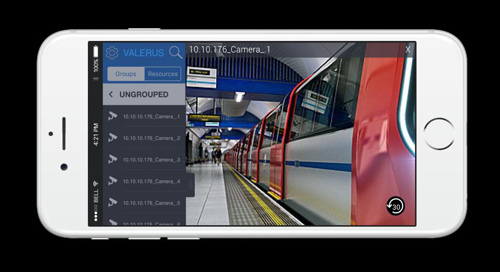 Valerus mobile app iphone view